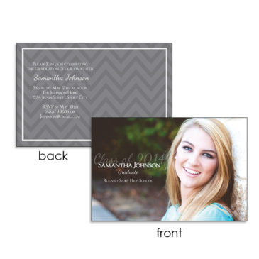 Graduation Announcement with photo design by PDG Printing, Story City Iowa