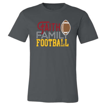 Asphalt Faith Family Football Tee