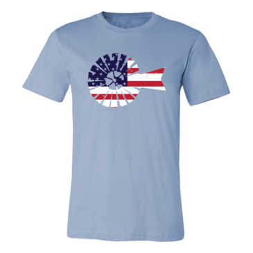 Baby Blue USA Windmill Graphic Tee