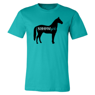 Teal Show Girl Graphic Tee