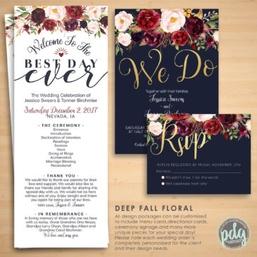 Deep Fall Floral